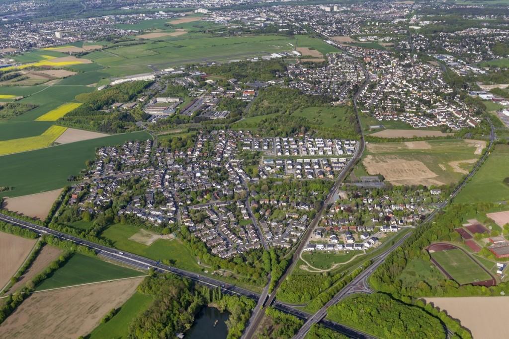 WTP - Bonn-Vilich-Müldorf, NRW-Urban, Neubauprojekt, Wohnsiedlung, Luftbild von Bonn
