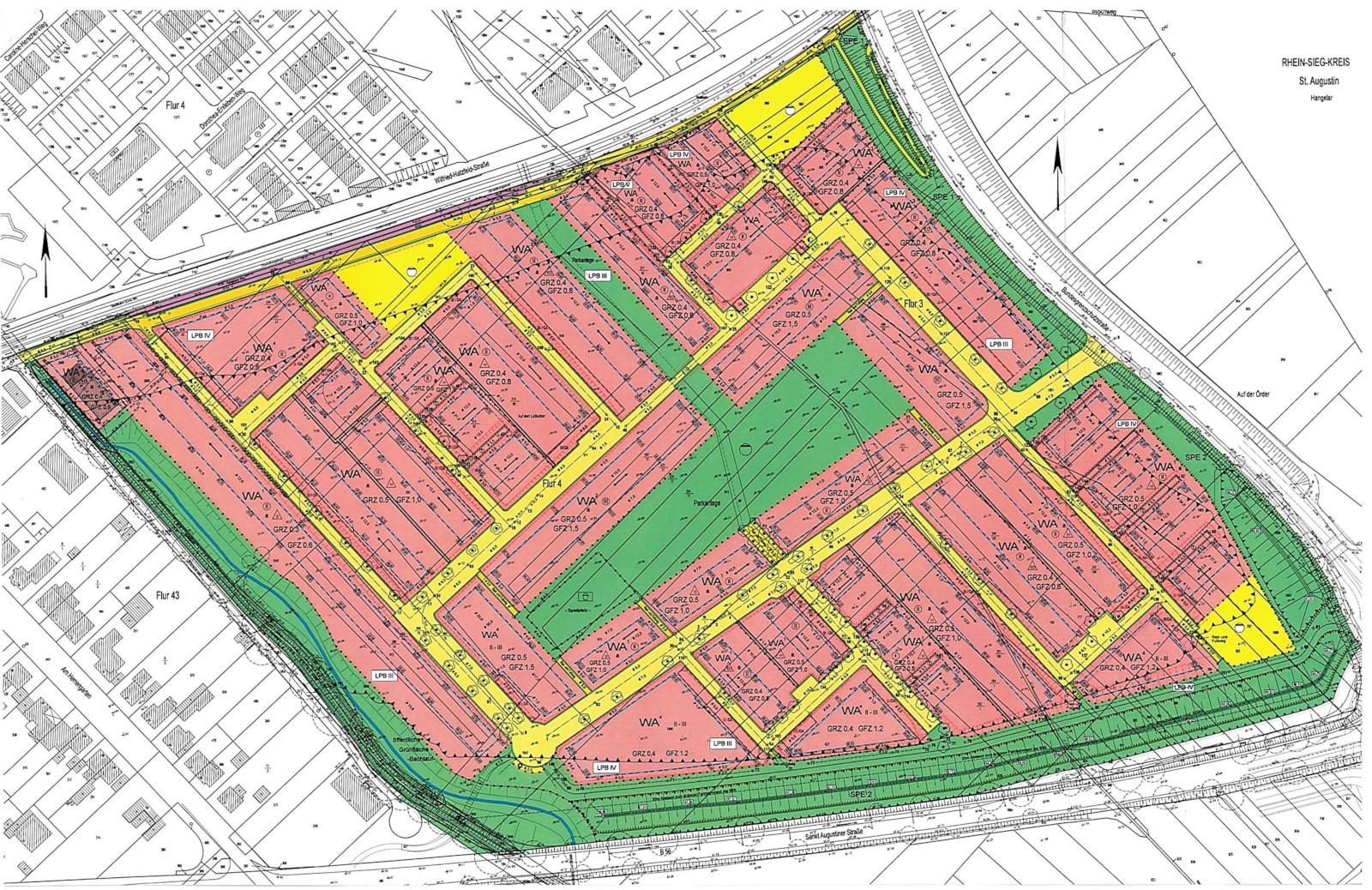 Bebauungsplanentwurf, Stand Offenlage September 2020